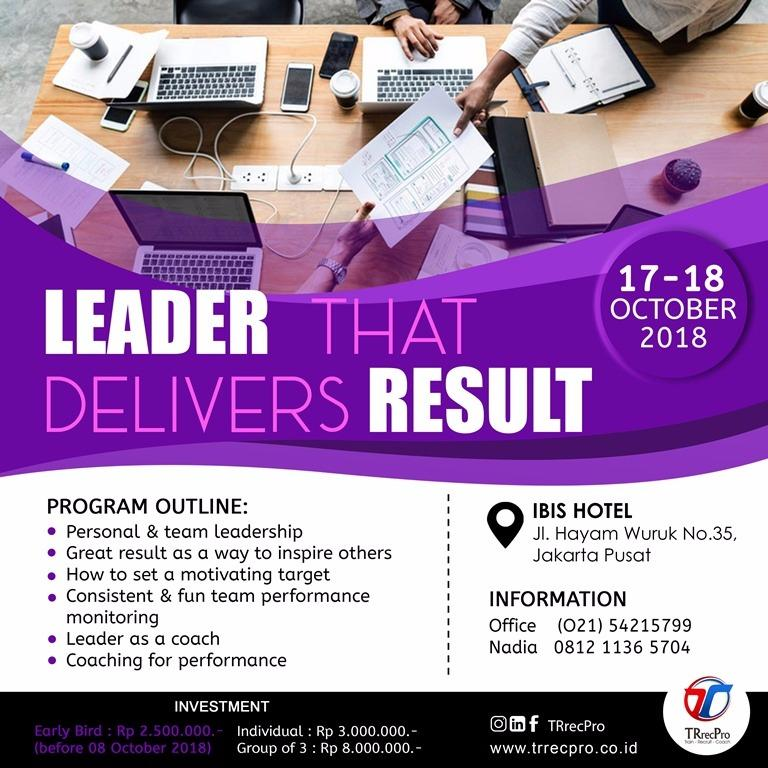 Leader That Delivers Result
