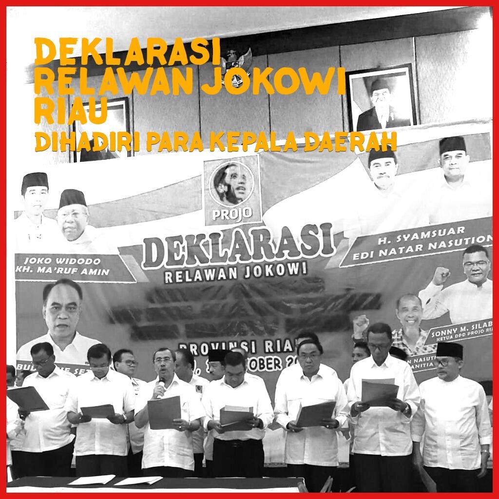 Akhirnya Penuh, Deklarasi Dukung Jokowi di Pekanbaru Meriah