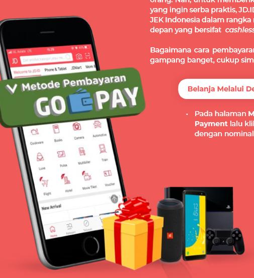 Belanja di JD.ID, Pakai GO-PAY Aja!