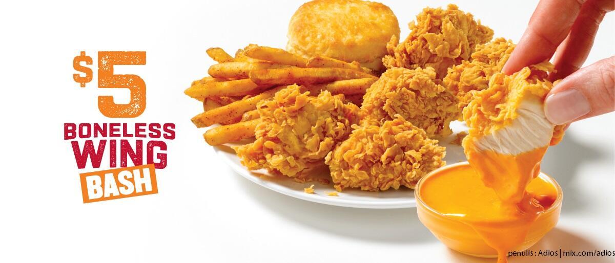 Restoran ayam cepat saji ini menyajikan 𝘤𝘩𝘪𝘤𝘬𝘦𝘯 𝘸𝘪𝘯𝘨𝘴 dengan berlapis emas 24K