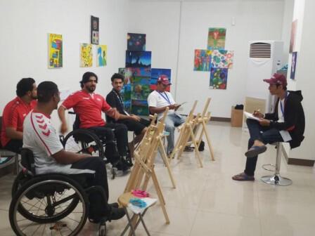 Transjakarta Gelar Kelas Melukis untuk Atlet Asian Para Games