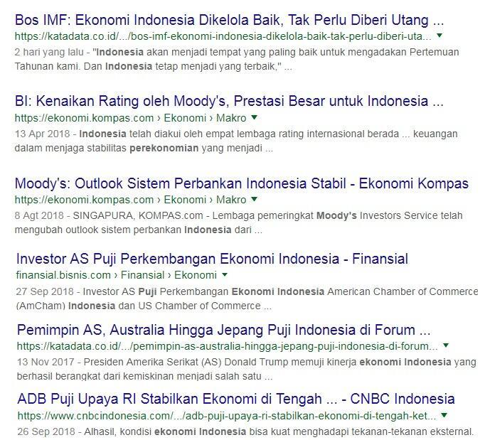Di Luar Ekonomi Indonesia Dipuji, Di dalam Negeri Di-bully