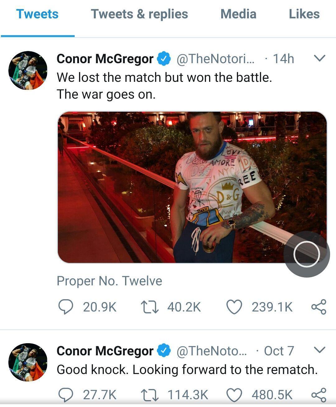 5 Fakta Kekalahan McGregor atas Khabib di UFC 229