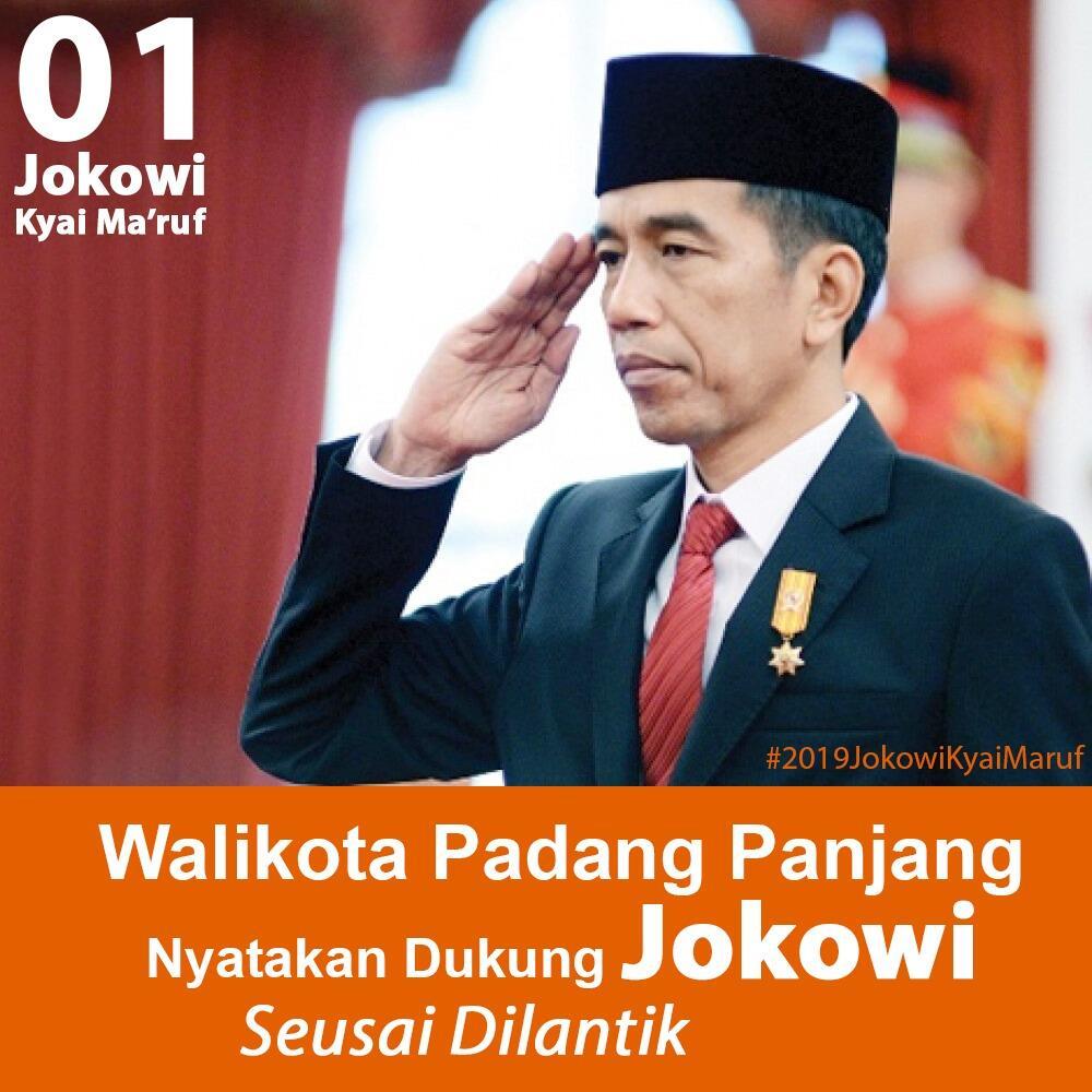 Dua Wali Kota di Sumbar Ini Mantap Dukung Jokowi