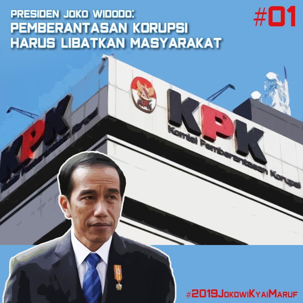 Jokowi: Menghilangkan Korupsi Harus Ada Partisipasi Masyarakat