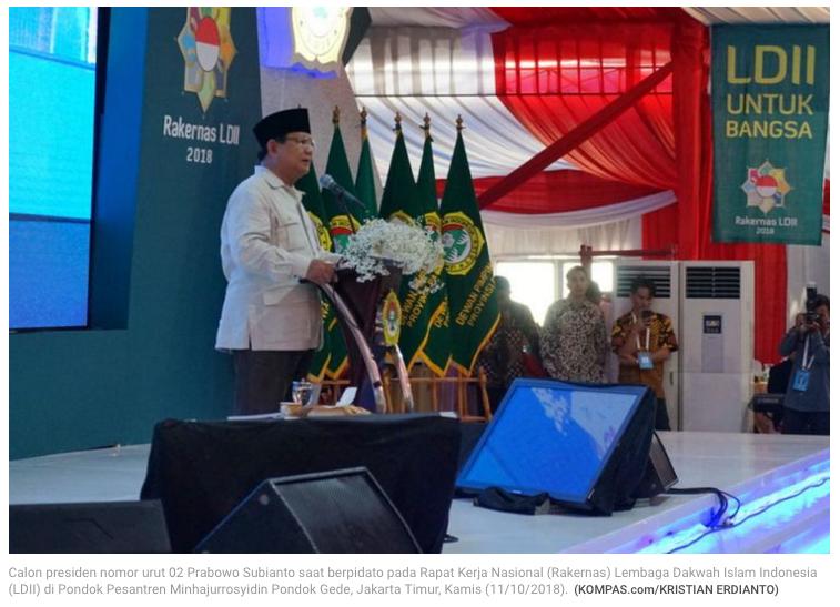"""Prabowo Sebut Indonesia Menjalankan """"Ekonomi Kebodohan"""""""