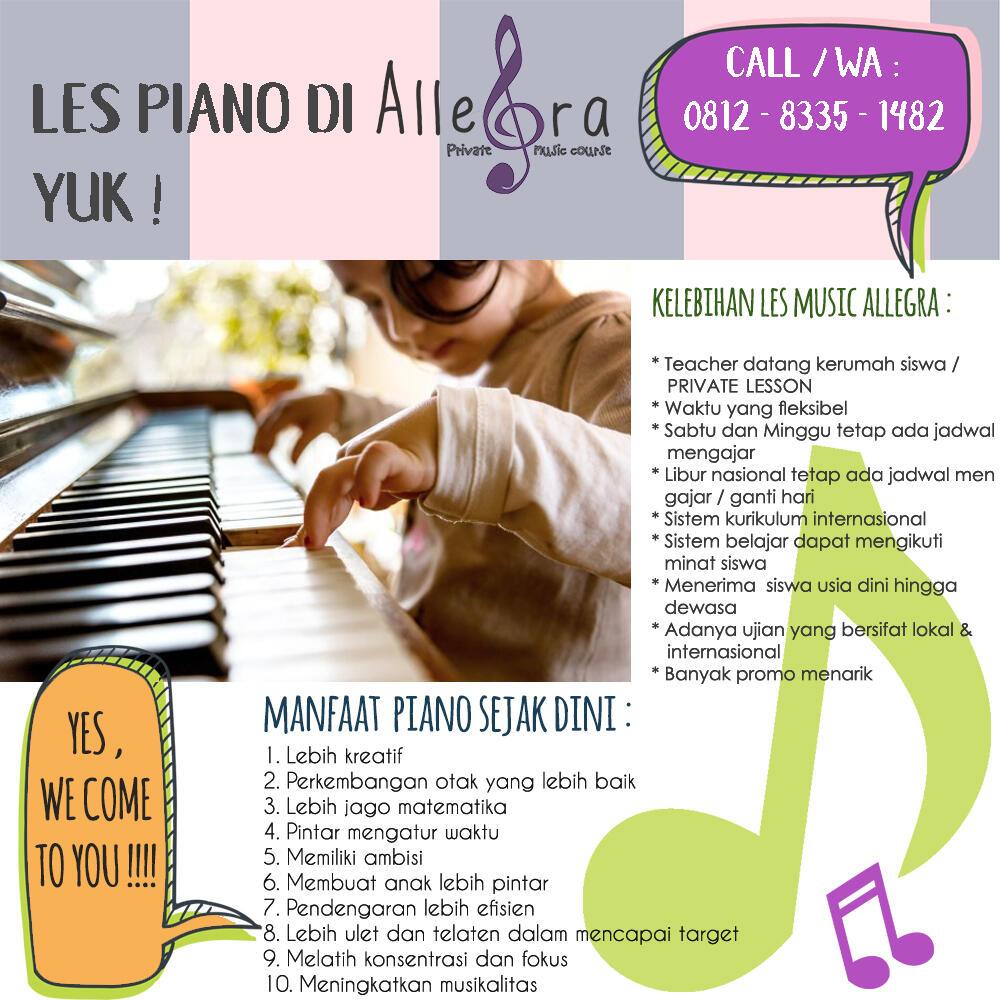 Les Piano Depok, Cibubur, Jakarta dan sekitarnya (kurikulum internasional)