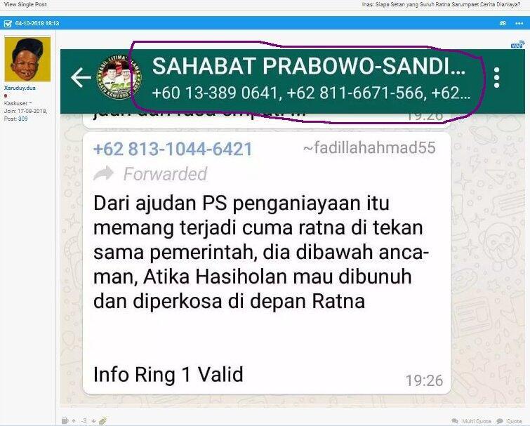 Pengacara tegaskan kabar Atikah Hasiholan akan diperkosa untuk ancam Ratna hoaks