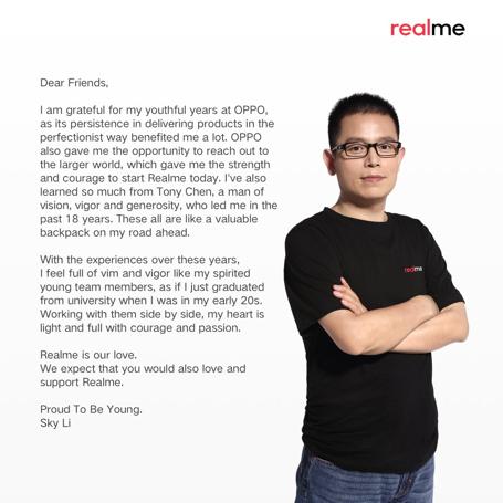 Smartphone yang Menyasar Generasi Muda, Ini Fokus CEO Realme