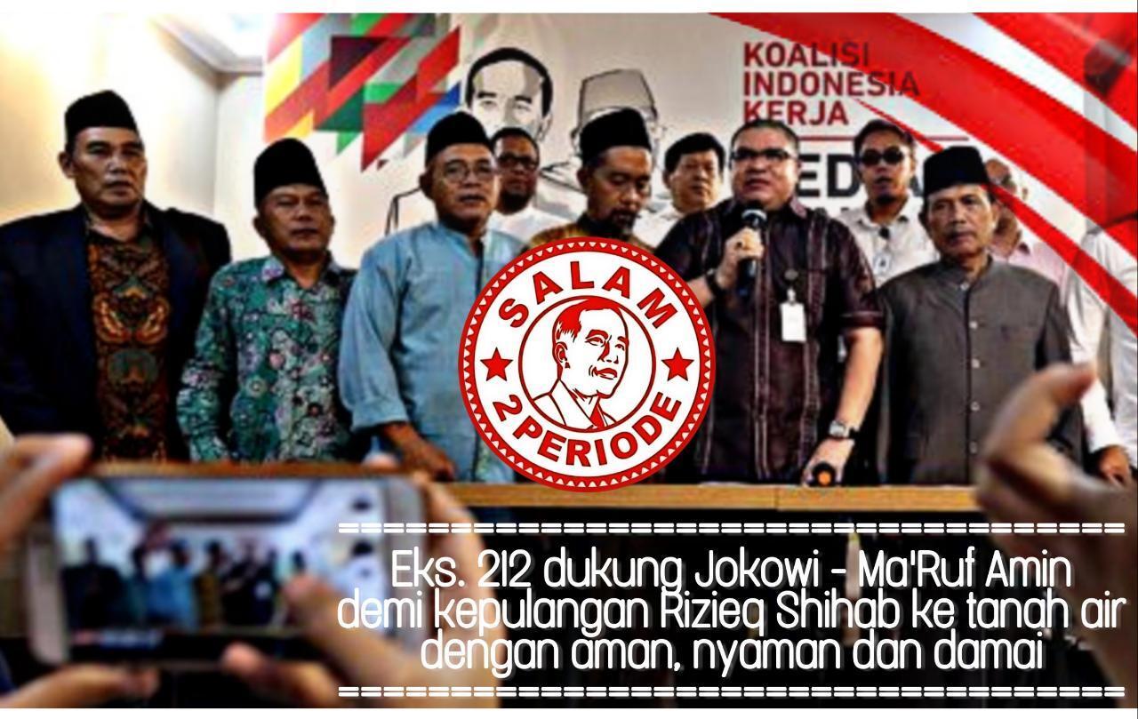 Ingin Ulama Memimpin Negeri, Relawan Eks-212 Dukung Jokowi-Ma'ruf Amin