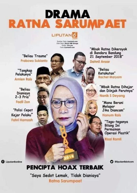 Kubu Prabowo Butuh Waktu Lama Memulihkan Isu Hoaks Ratna