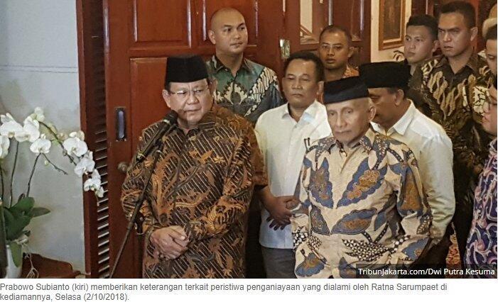Prabowo: Mengakali atau membohongi rakyat itu sangat berbahaya
