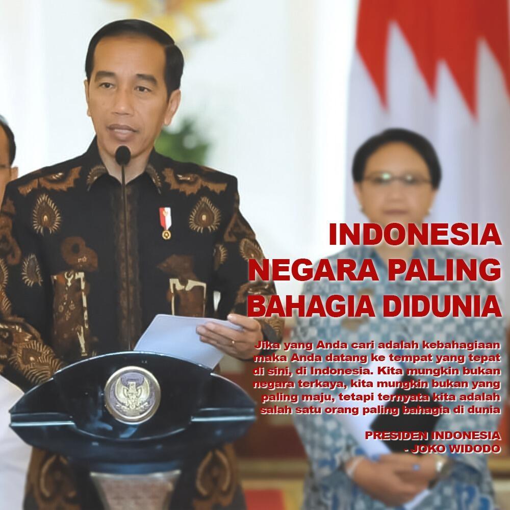 "Jokowi: ""Indonesia Negara Paling Bahagia di Dunia"
