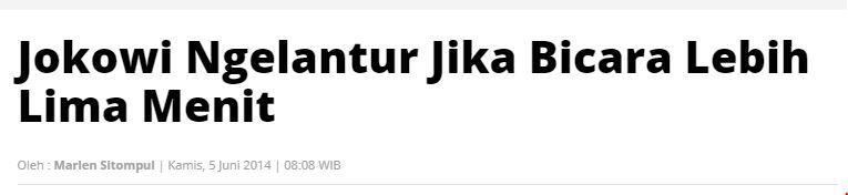Gaya Bicara Jokowi Akhir2 Ini Dinilai Mengkhawatirkan, Jangan Blunder Kayak Ahok