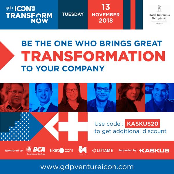Dengerin Tips dari 15 Pemimpin Sukses di Dunia Digital di Event ICON2018!