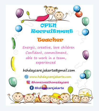 Lowongan Pengajar/Guru/Pengasuh Daycare