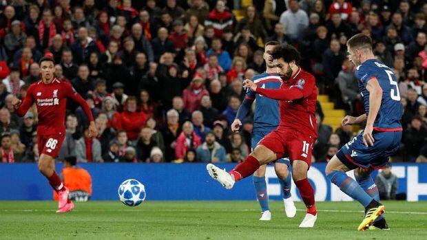 Dua Gol Salah di Liga Champions Pecahkan Rekor di Liverpool