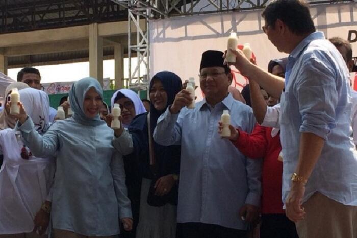 Tak Suka Minum Susu, Prabowo: Saya Suka Minum Es, Makanya Saya Lebih Pendek