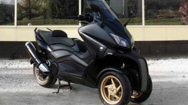 Skutik Yamaha Dimodif Pakai Dua Roda di Depan