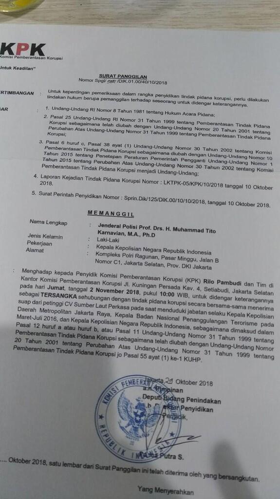 KPK & Polri akan ungkap SKENARIO COKLAT yang adu domba aparat penegak hukum