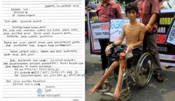 Lumpuh Akibat Tertembak Oknum Polisi, Iwan Menunggu Ganti Rugi yang Tak Pasti - KBK