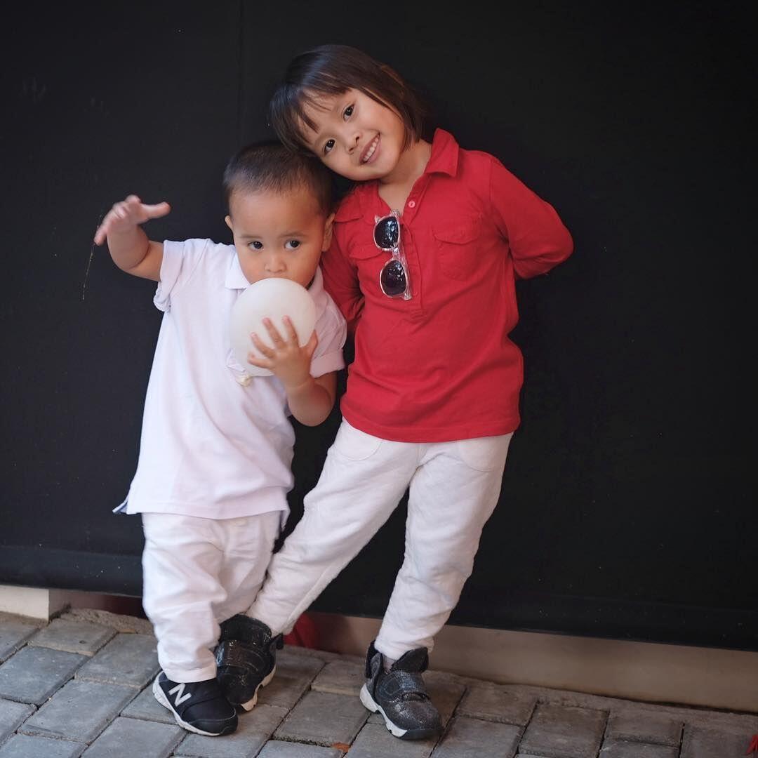 Double Trouble, 10 Potret Kocak Kala dan Kaba anak Zaskia Adya Mecca