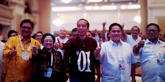Ini arahan Jokowi ke timses saat Rakernas di Surabaya