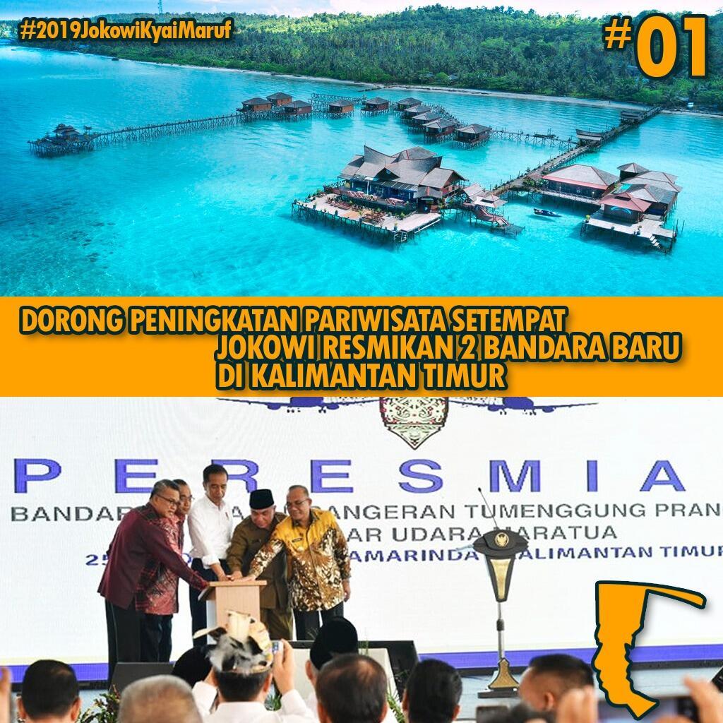 Jokowi ke Samarinda Resmikan Dua Bandara Baru