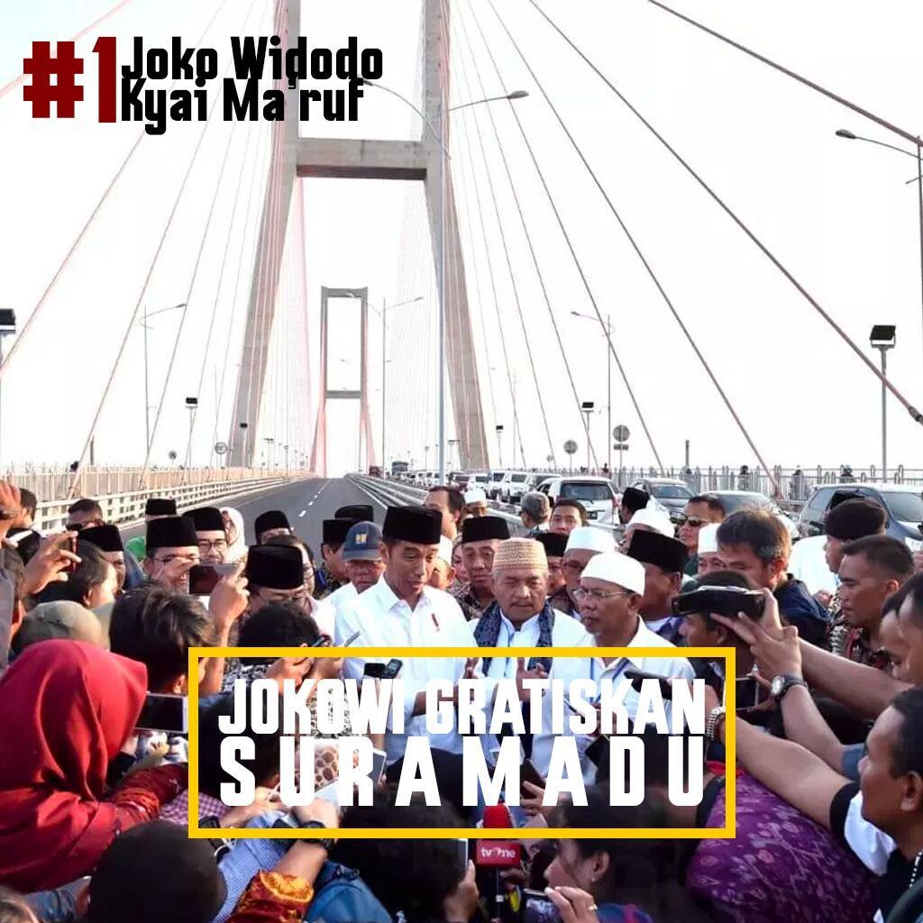 Ini Alasan Presiden Jokowi Gratiskan Tol Suramadu