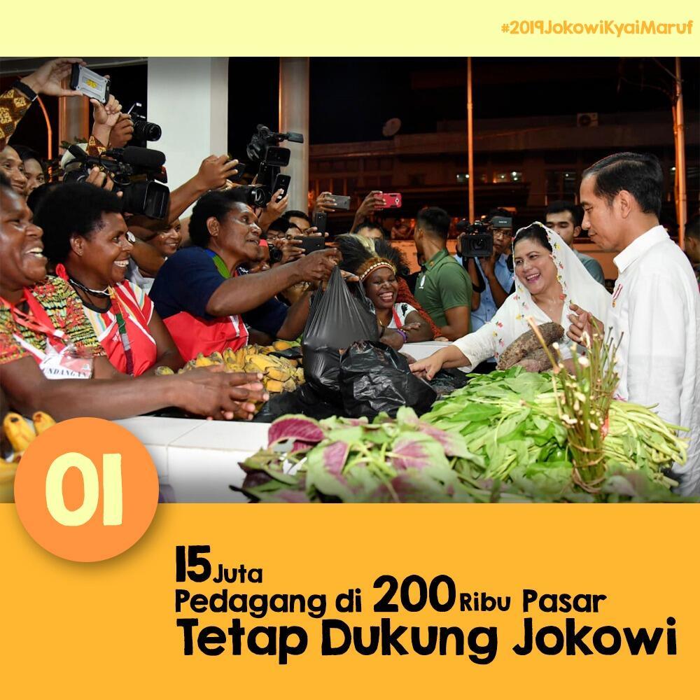 15 Juta Pedagang Pasar Indonesia Dukung Jokowi - Ma'ruf Amin