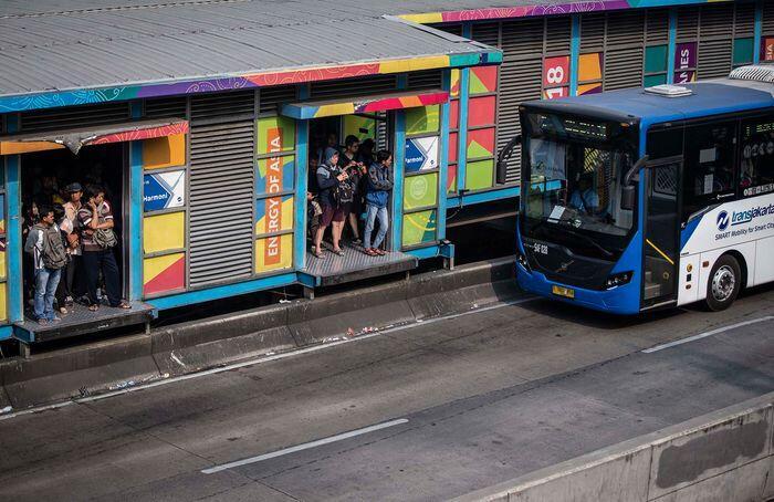 Tabrak pesepeda, daftar kecelakaan bus Transjakarta makin panjang