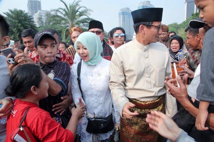 10 Kemesraan Nur Asia Uno Saat Dampingi Sandiaga Uno