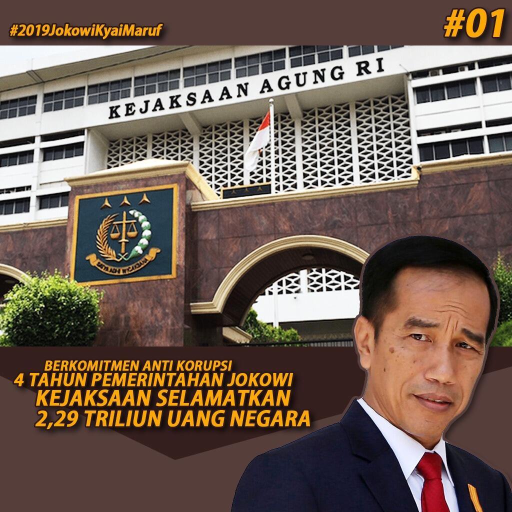 4 Tahun Jokowi-JK, Kejagung Selamatkan Duit Negara Rp 2 Triliun