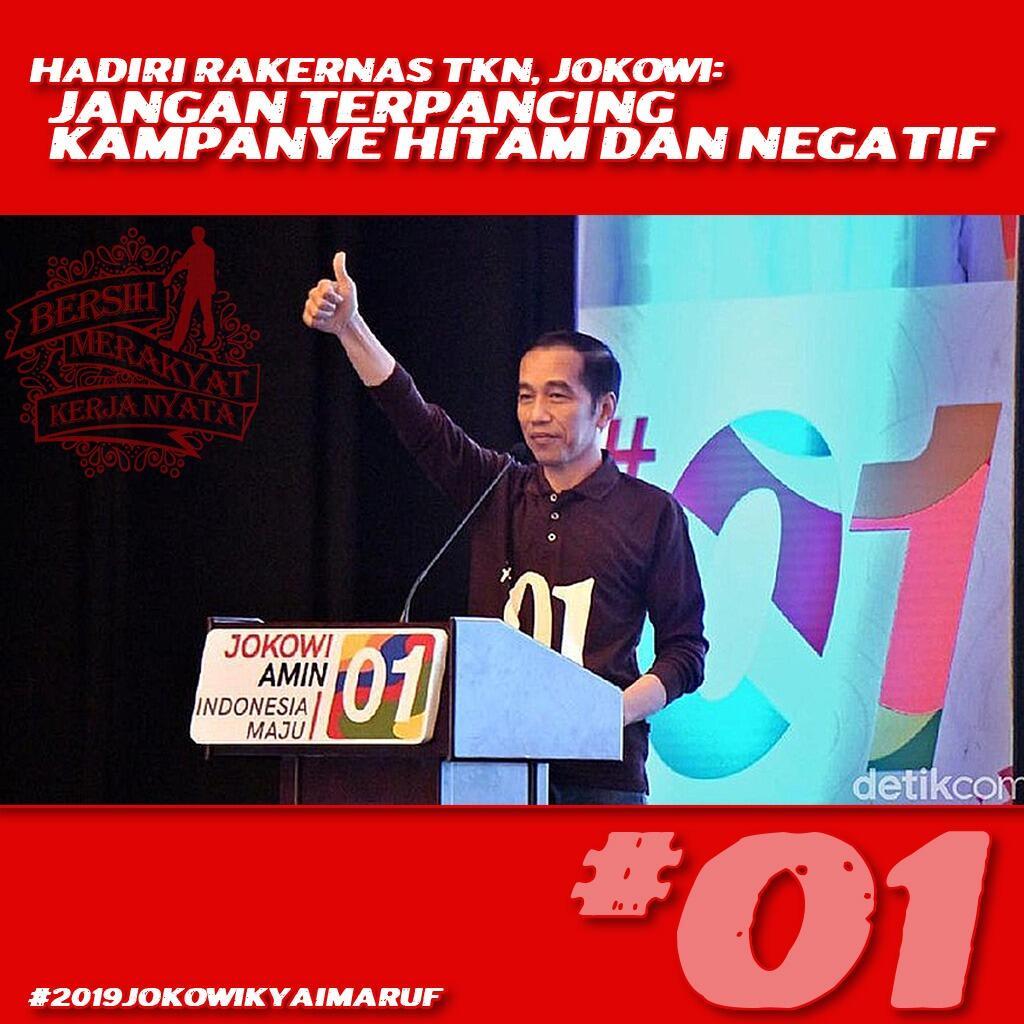 Pesan Jokowi ke Tim Kampanye: Jelaskan Isu Antek Aseng hingga PKI