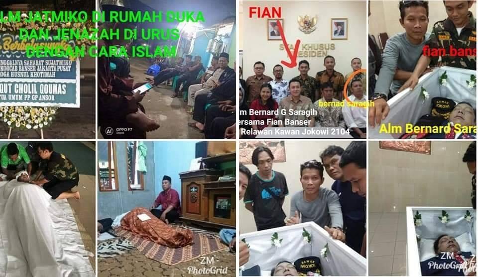 Membongkar Hoax KEJI almarhum Jatmiko adalah anggota banser yang beragama non Muslim