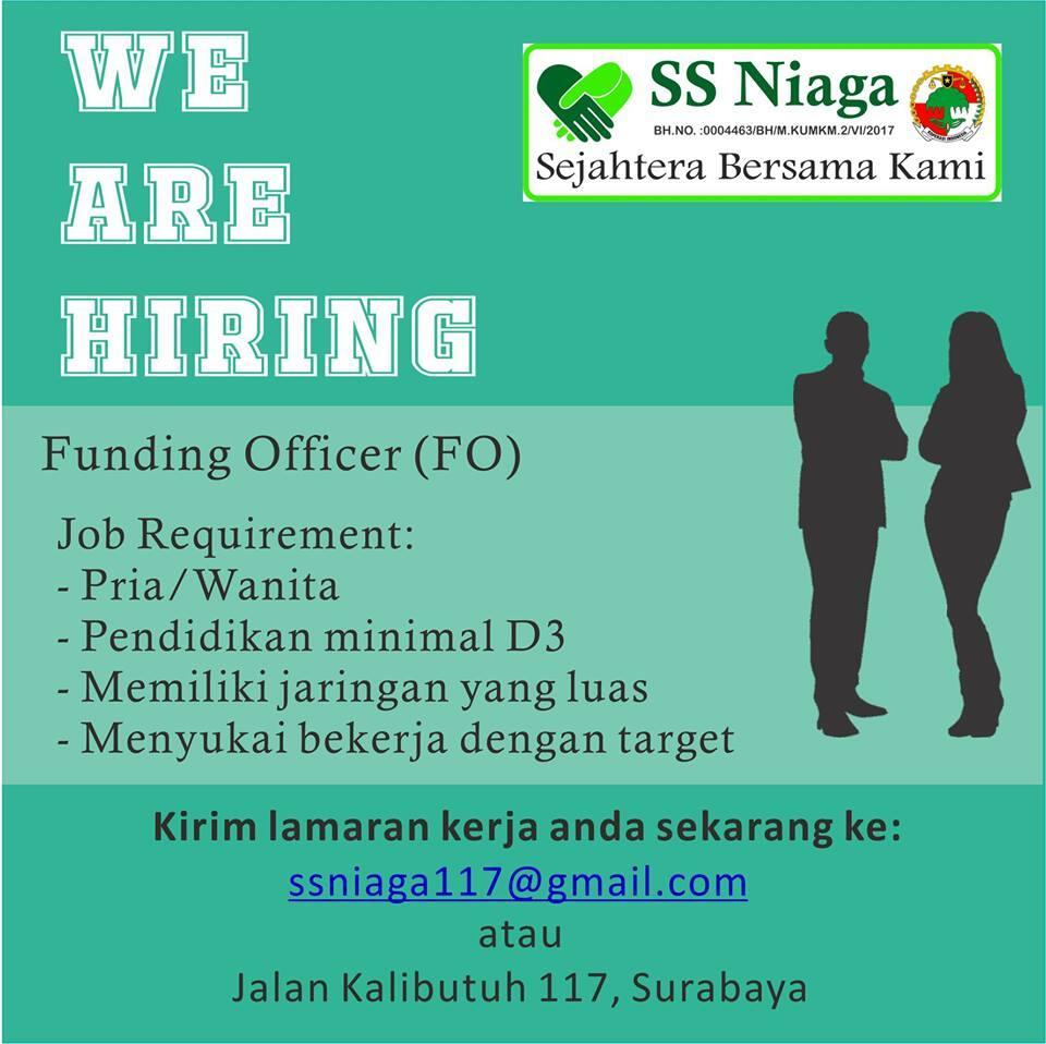 Funding Officer (FO) Koperasi KSP SS Niaga, Surabaya