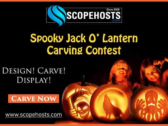 Spooky Jack O' Lantern Carving Halloween Contest - Scopehosts.com
