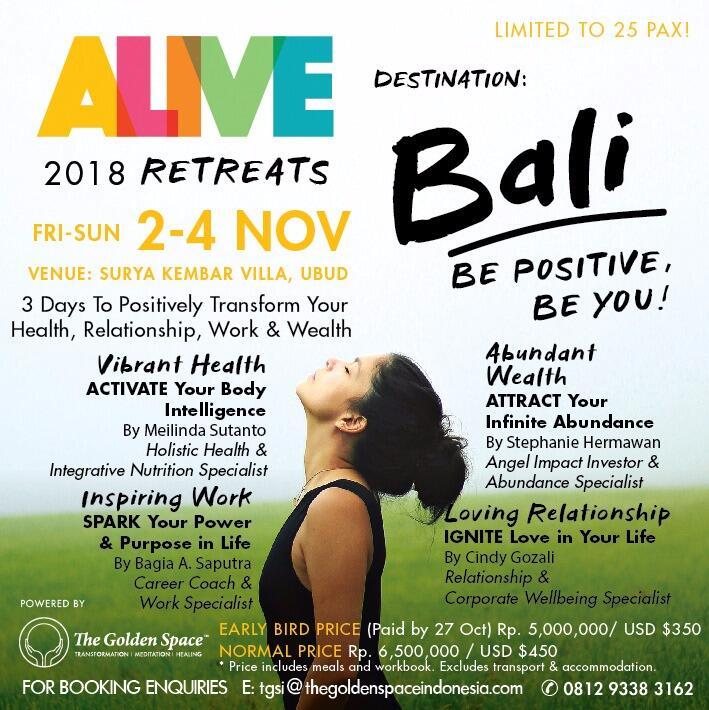 ALIVE Retreat 2018 in Ubud Bali