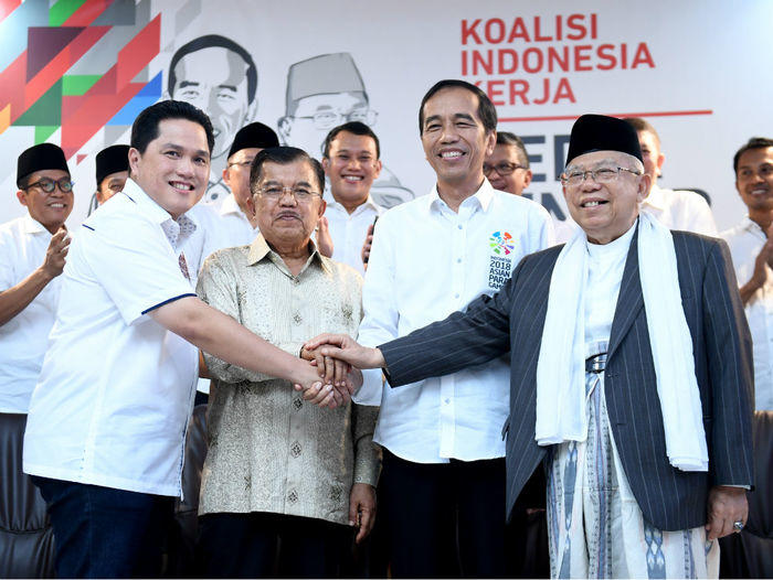 Mungkinkah Jokowi-Ma'ruf mencapai target suara 70 persen