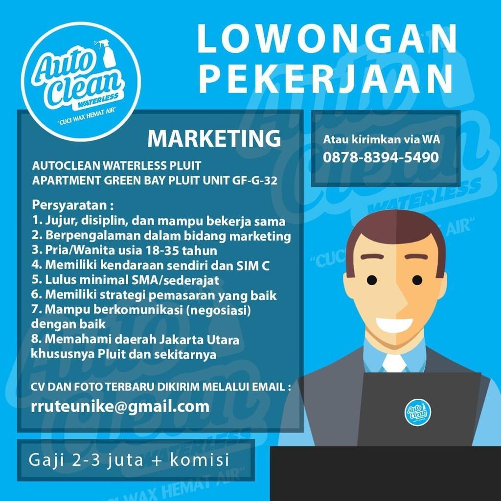 Cari Sales / Marketing pasarkan Jasa Cuci Mobil tanpa Air