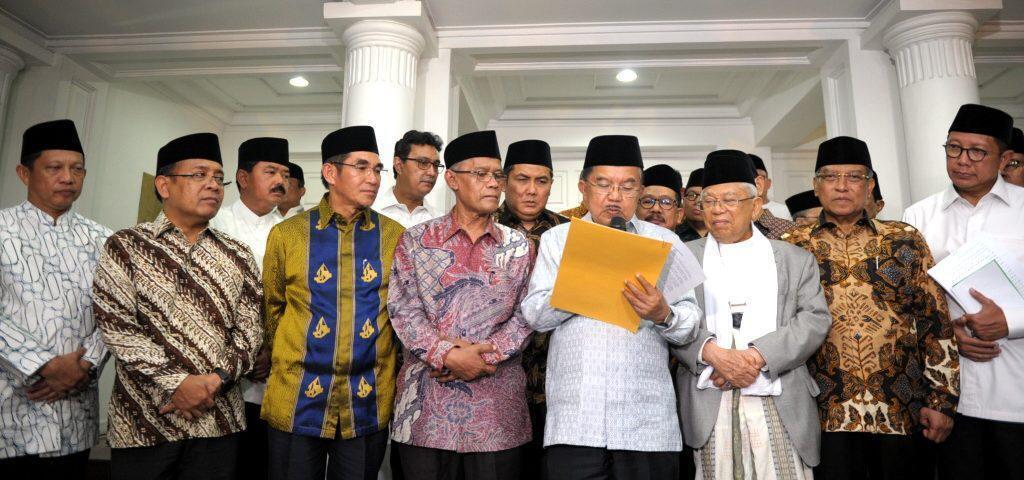 Pernyataan Bersama Wapres dan Pimpinan Ormas Islam, Jaga Persatuan dan Musyawarah