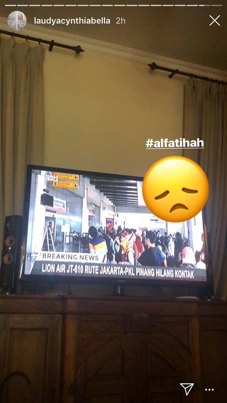 Para Artis Ungkapkan Belasungkawa atas Jatuhnya Pesawat Lion Air JT610