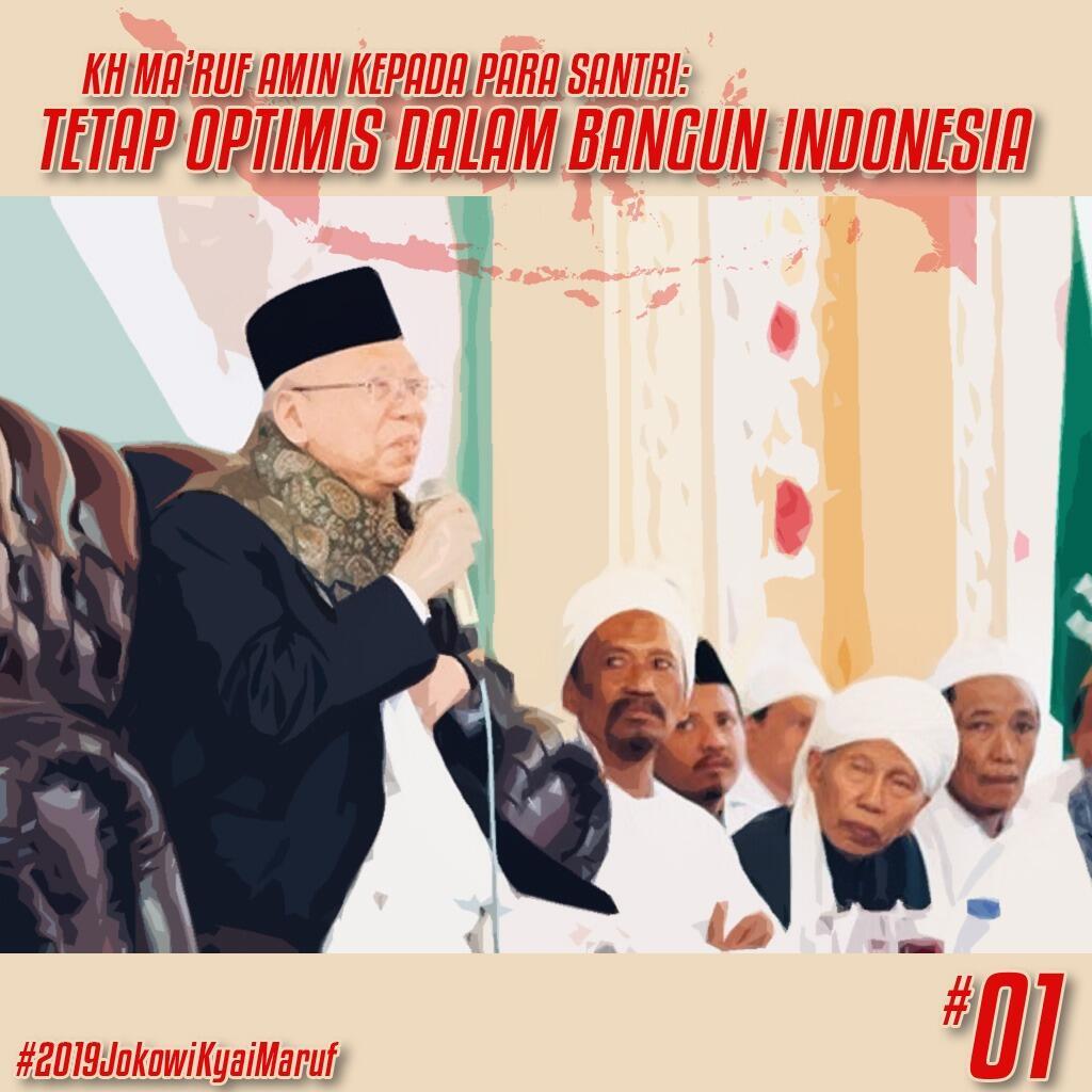 Kiai Ma'ruf: Santri Milenial Jangan Tunduk Pada Pandangan 'Indonesia Akan Bubar'