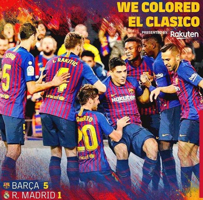 Gol Perdana Vidal Serta Hattrick Suarez Bawa Barcelona Lumat Real Madrid 5-1