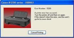 Cara Mengatasi Error 5200 Pada Canon Ip2770