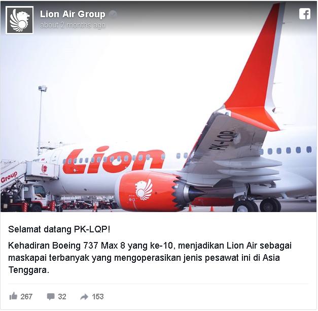 Mengenal Boeing 737 Max 8, pesawat yang jatuh di Karawang