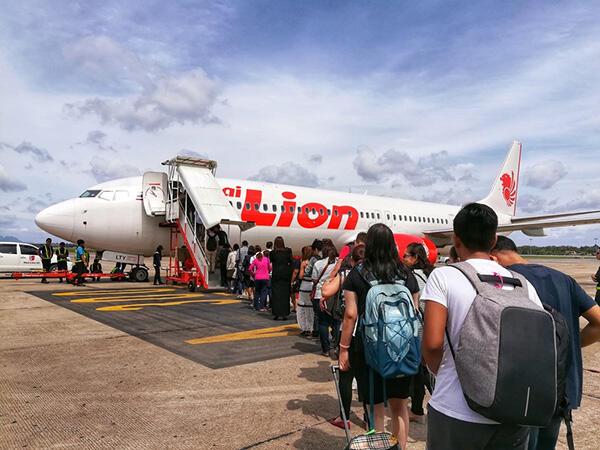 Lion air tetep penuh penumpangnya