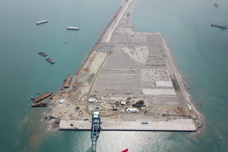 Ini Kemajuan Pembangunan Makassar New Port Milik Pelindo IV