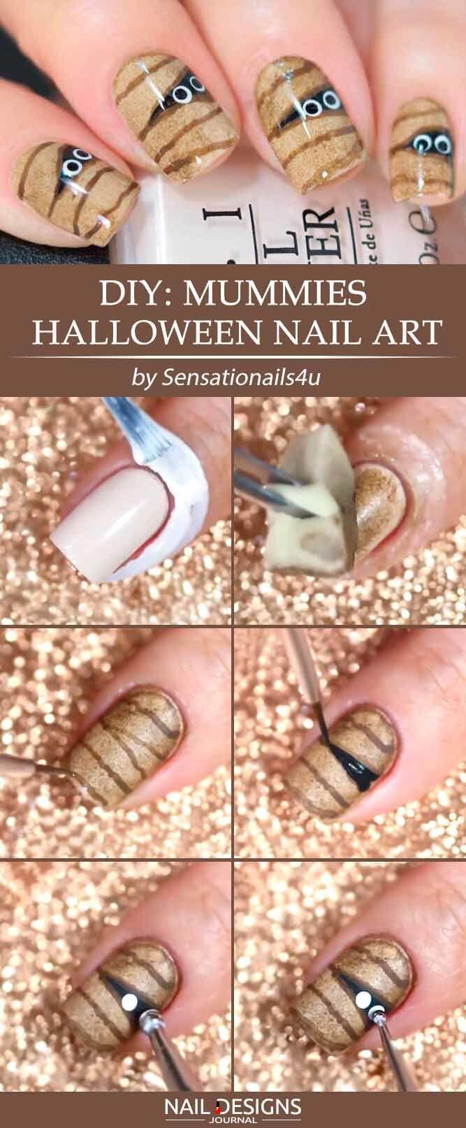 8 Nail Art Tema Halloween Paling Gampang, Pasti Jadi Pusat Perhatian