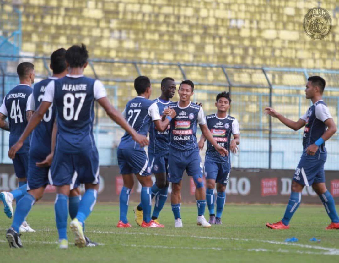 Makan Konate Moncer, Arema FC Pesta Gol di Gawang PSMS